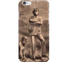 Man and his dog iPhone Case/Skin