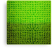 Green Dogs Canvas Print