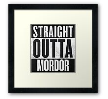 Straight Outta Mordor Framed Print