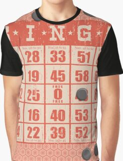 Hipster kitsch vintage bingo card game card Graphic T-Shirt
