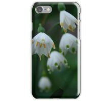 Macro white flower photograph iPhone Case/Skin