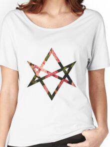 Hexagram // Floral  Women's Relaxed Fit T-Shirt