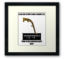 I like big struts and I cannot lie Framed Print