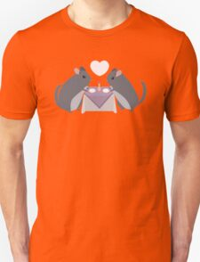Two Chinchillas on a Date Unisex T-Shirt