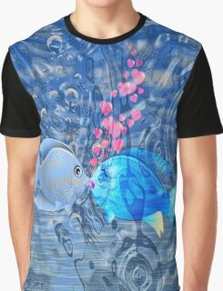 Fish In Love Graphic T-Shirt