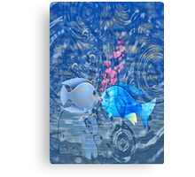 Fish In Love Canvas Print