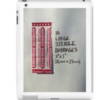 15 large sterile bandages iPad Case/Skin