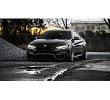 Stunning Black BMW M4 Photographic Print