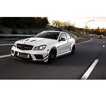 Wicked C63 AMG Black Series on the move. Photographic Print