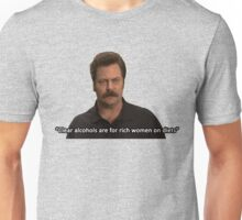 Ron Swanson- Clear Alcohols  Unisex T-Shirt