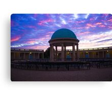 Sun Going Down Over Eaton Park, Norwich, England  Canvas Print