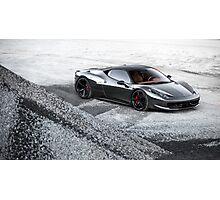 Chrome Ferrari 458 Italia Photographic Print