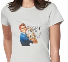 Fight like a Girl, Rosie Riveter Womens Fitted T-Shirt