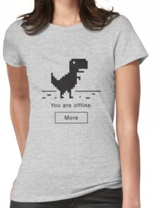 Offline Dinosaur Womens Fitted T-Shirt