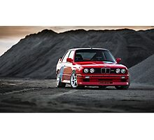 Classic BMW E30 M3  Photographic Print