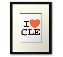 I HEART CLE - CLEVELAND Framed Print