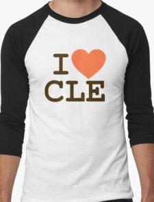 I HEART CLE - CLEVELAND Men's Baseball ¾ T-Shirt