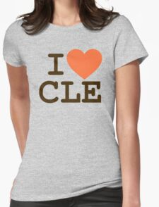 I HEART CLE - CLEVELAND Womens Fitted T-Shirt