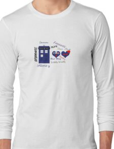 Doctor Who Words  Long Sleeve T-Shirt