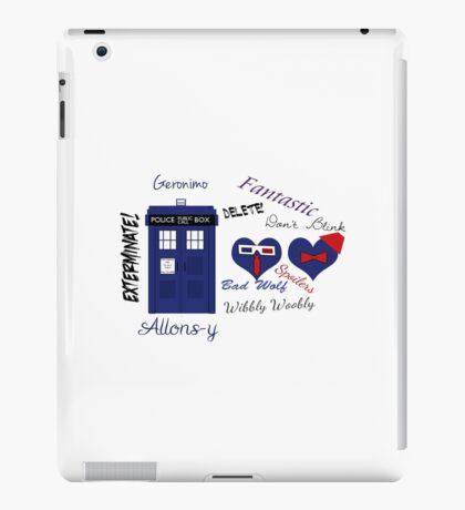 Doctor Who Words  iPad Case/Skin