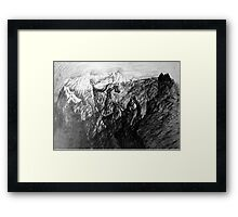 Will to live. Born as stone will see the sun. Framed Print