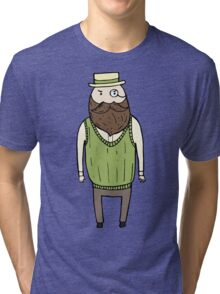 Gentleman with monocle Tri-blend T-Shirt