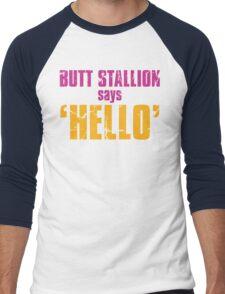 Borderlands 2   Butt Stallion says 'Hello'! Men's Baseball ¾ T-Shirt