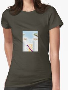 Coffee at the Beach Womens Fitted T-Shirt