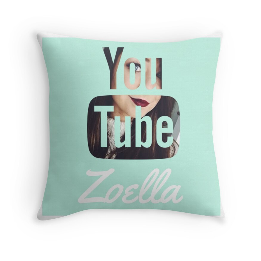 Zoella: Throw Pillows Redbubble