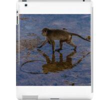 Monkey reflecting time  iPad Case/Skin