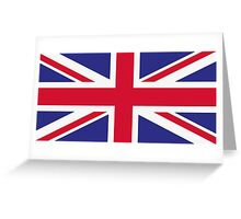 National flag of Great Britain Greeting Card