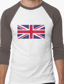 National flag of Great Britain Men's Baseball ¾ T-Shirt