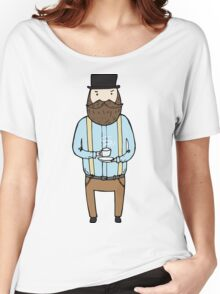 Gentleman with a cup of tea Women's Relaxed Fit T-Shirt