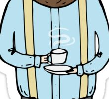 Gentleman with a cup of tea Sticker