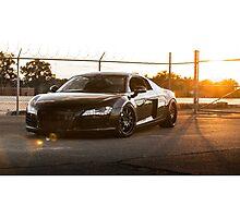 Audi R8 at Sunset Photographic Print