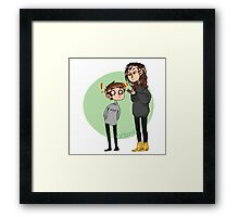 height difference Framed Print