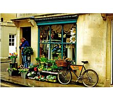 Flower shop, Bath, UK Photographic Print