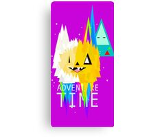 adventure time triangle  Canvas Print