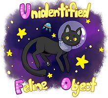 Unidentified Feline Object - UFOcat (Black) by ZeonAce