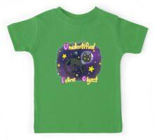 Unidentified Feline Object - UFOcat (Black) Kids Tee