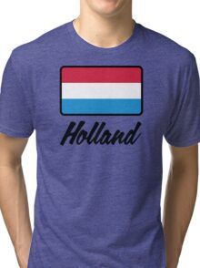 National flag of Holland Tri-blend T-Shirt