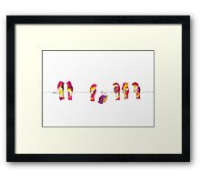 Pink Birds on a Wire Framed Print