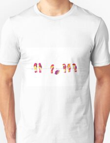Pink Birds on a Wire Unisex T-Shirt