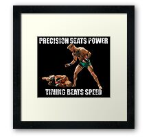 Conor McGregor Knocks Out Jose Aldo Framed Print