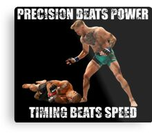 Conor McGregor Knocks Out Jose Aldo Metal Print