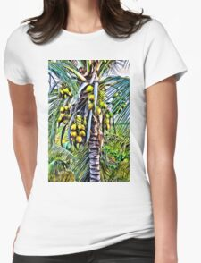 Coconut Tree Womens Fitted T-Shirt