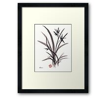 TRUST IN JOY - Original Sumie Ink Wash Zen Bamboo Painting Framed Print