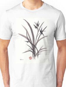 TRUST IN JOY - Original Sumie Ink Wash Zen Bamboo Painting Unisex T-Shirt