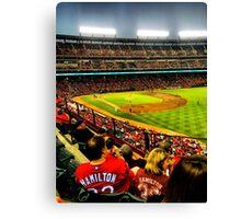 Texas Rangers baseball. Canvas Print