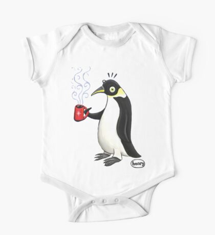 Penguin with hot coffee One Piece - Short Sleeve